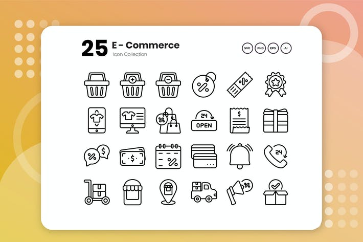 Thumbnail for 25 E-Commerce Outline Icon