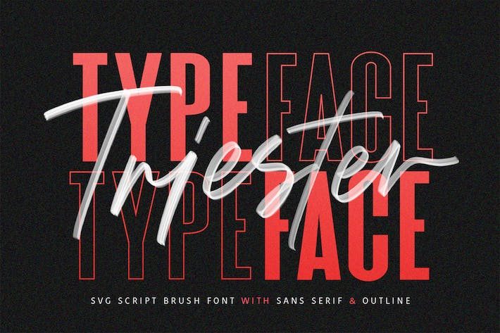 Thumbnail for Triester SVG Brush Font Free Sans