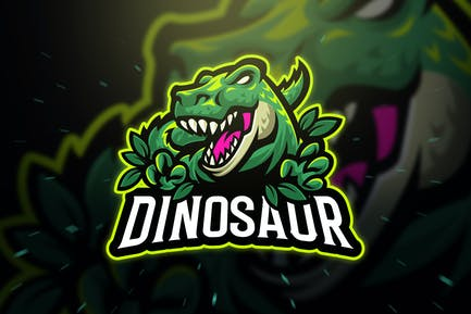 Dinosaur Trex Sport and Esport Logo