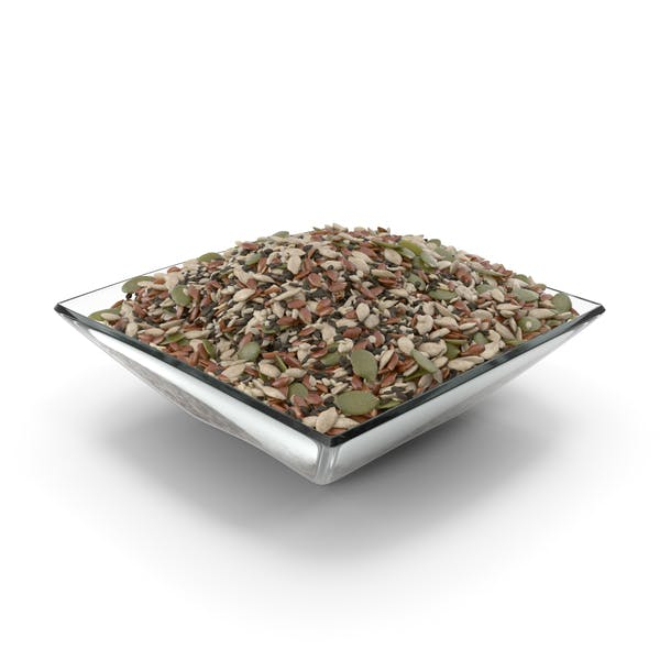Square Bowl With Mixed Healthy Seeds