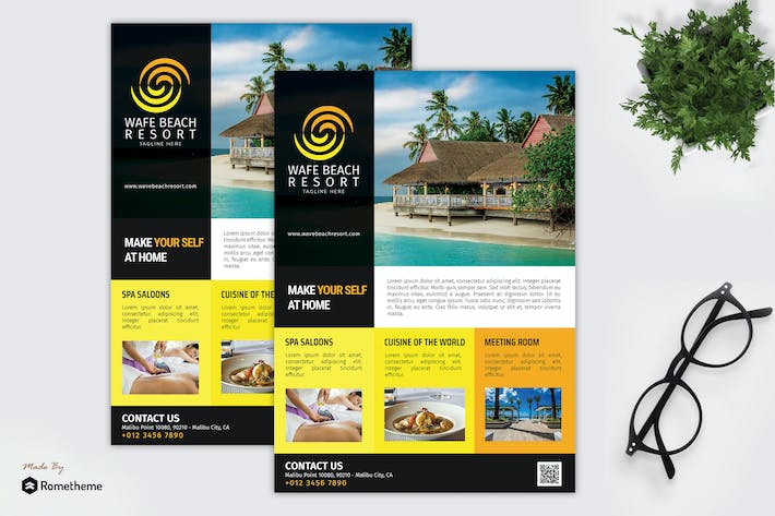 Cover Image For Wave Beach Resort - Promotion Flyer RB