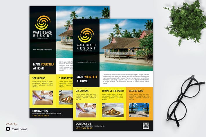 Thumbnail for Wave Beach Resort - Promotion Flyer RB