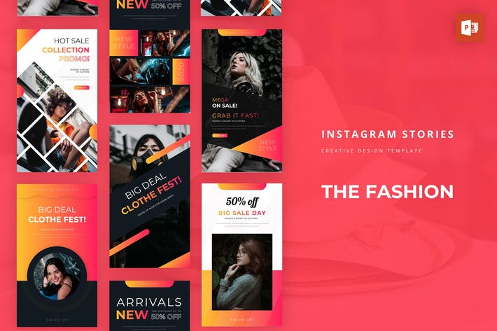 Thumbnail for Fashion Instagram Story Powerpoint Template