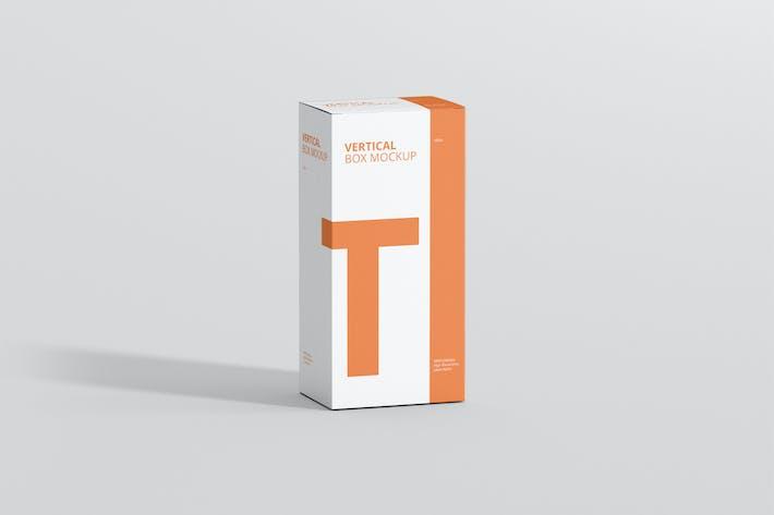 Thumbnail for Box Mockup - Long Vertical Rectangle