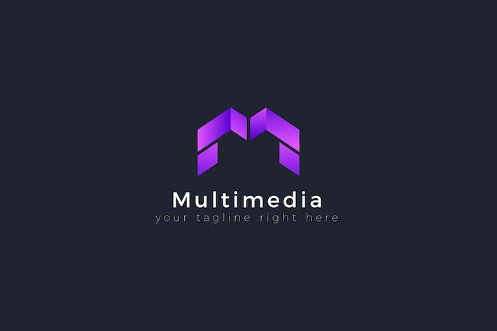 Cover Image For Multimedia - M Letter Premium Logo Template