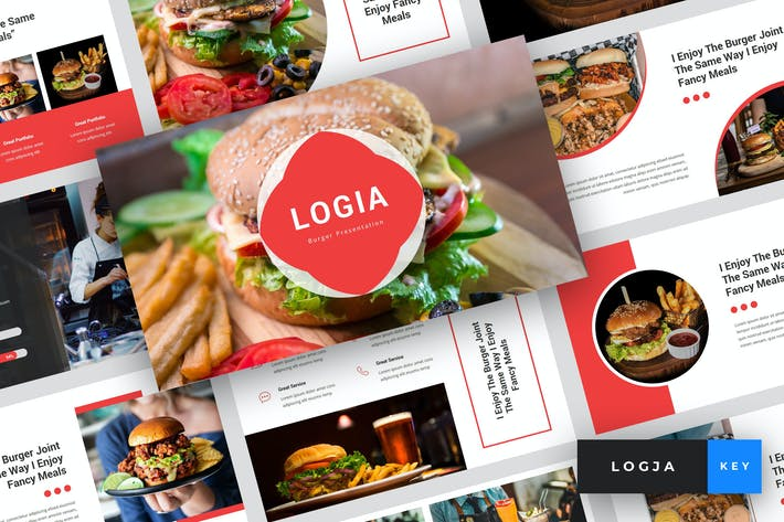 Thumbnail for Logja - Burger Keynote Template