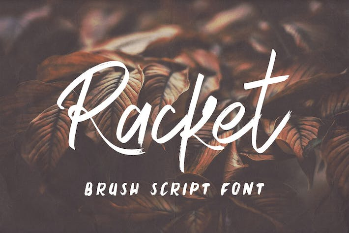 Racket Brush Script