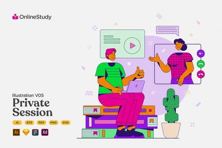 Lernen - Online-Privatsitzung