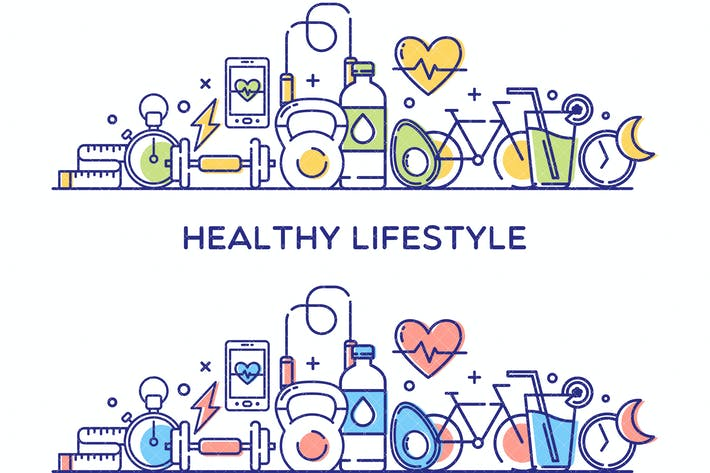 Thumbnail for Healthy Lifestyle Vector Illustration