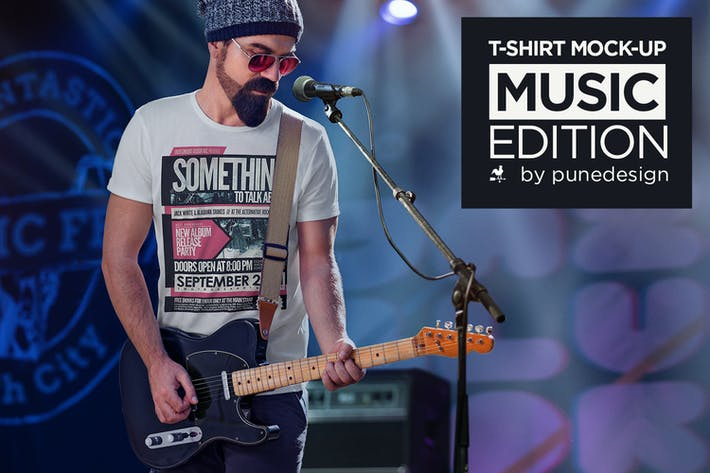 Thumbnail for T-Shirt Mock-Up - Music Edition