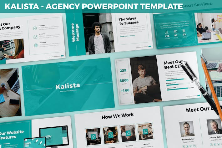 Thumbnail for Kalista - Agency Powerpoint Template