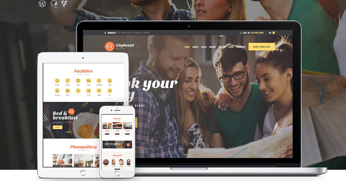 Download City Hostel   A Travel & Hotel Booking WP Theme by axiomthemes