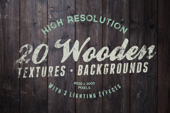 Cover Image For 20 Wood Textures / Backgrounds