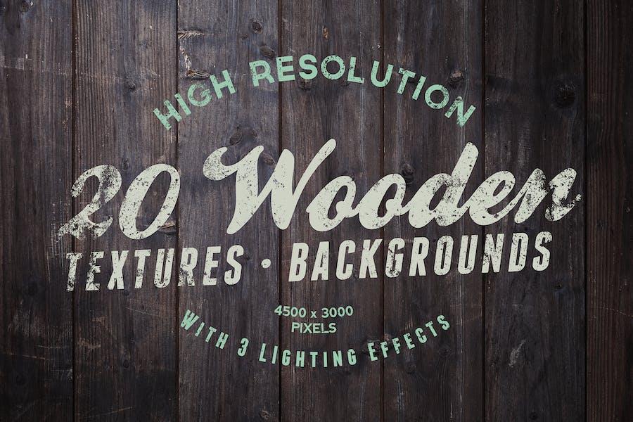 20 Holztexturen und Hintergründe