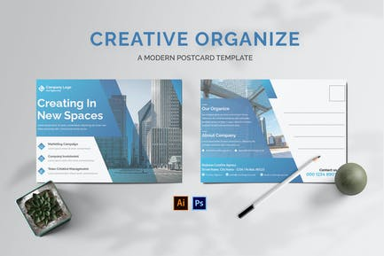 Creative Organize Postcard