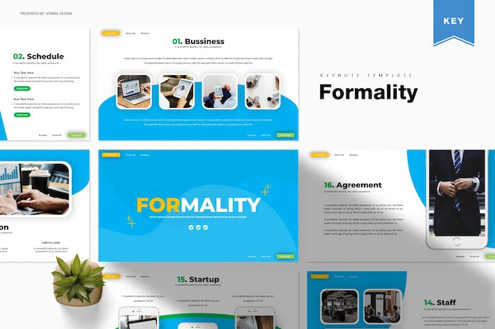 Thumbnail for Formality | Keynote Template