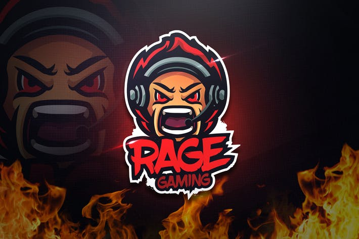 Thumbnail for Rage Gaming - Mascot & Esport Logo