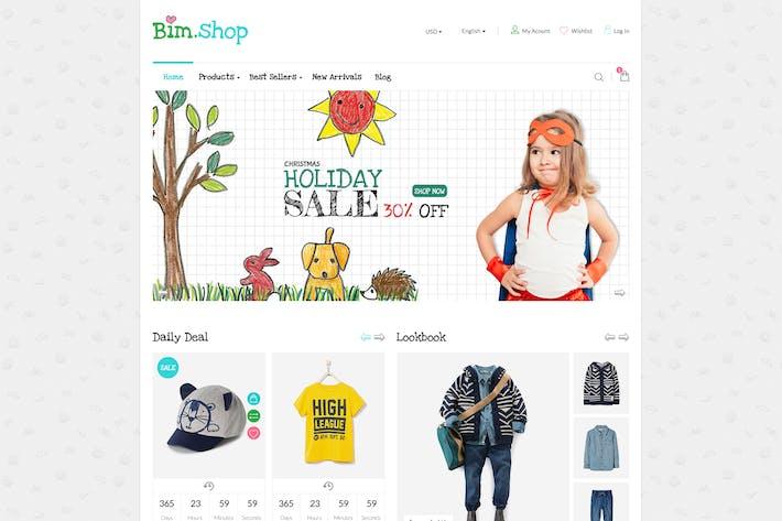 Thumbnail for Bim Store - PSD Ecommerce Templates