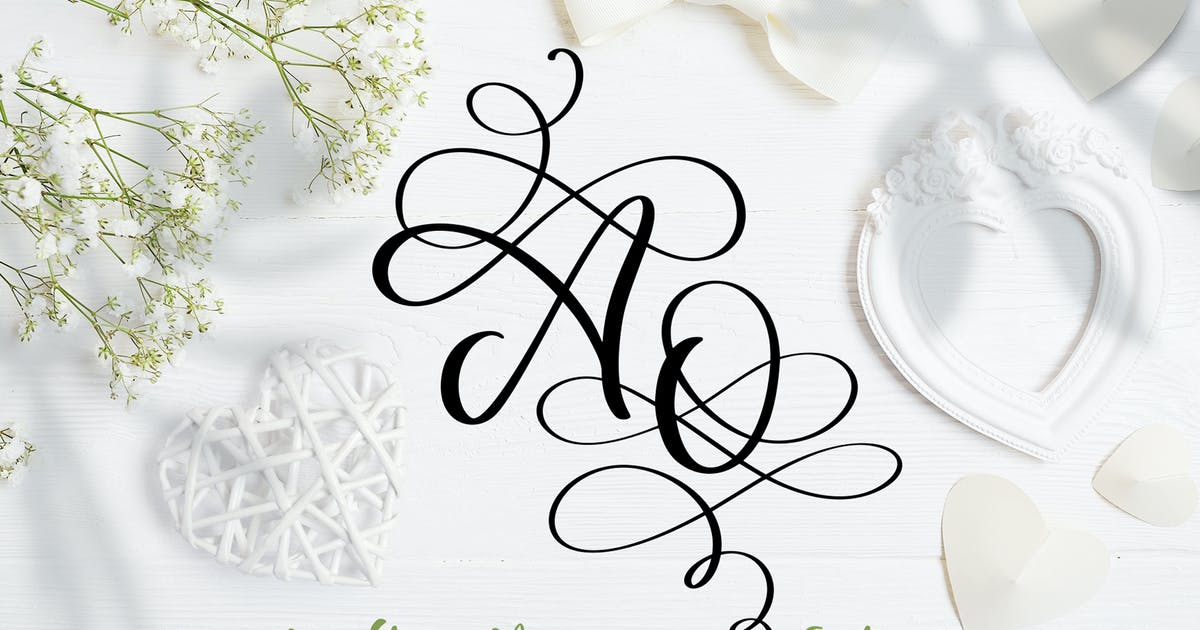Download Love Story Monogram Font by timonko