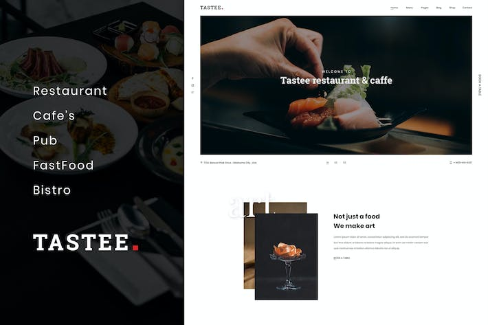 Thumbnail for Tastee | Restaurant PSD Template