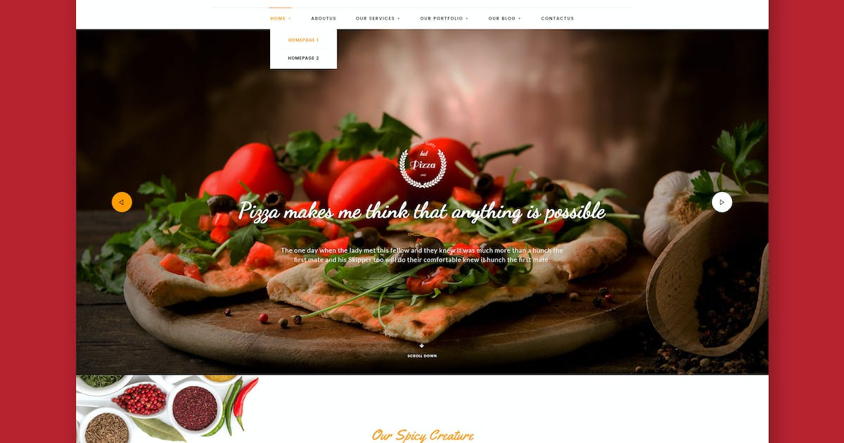 Download Pizza Kitchen - Pizza & Fast Food HTML Template by WPmines
