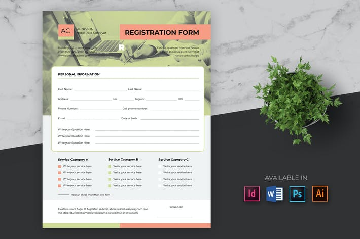 Cover Image For Clean Business Registrierungsformular Pro