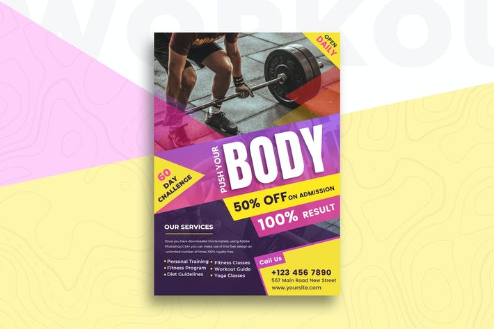 Cover Image For Fitness Flyer