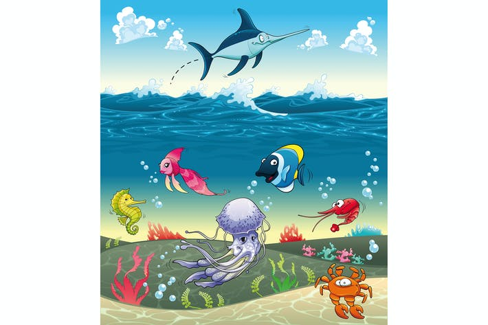Thumbnail for Under the sea with fish and other animals