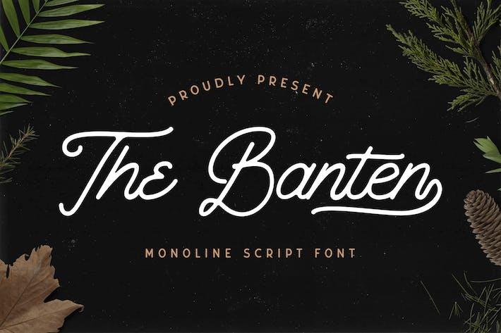 Thumbnail for The Banten - Monoline Script Font