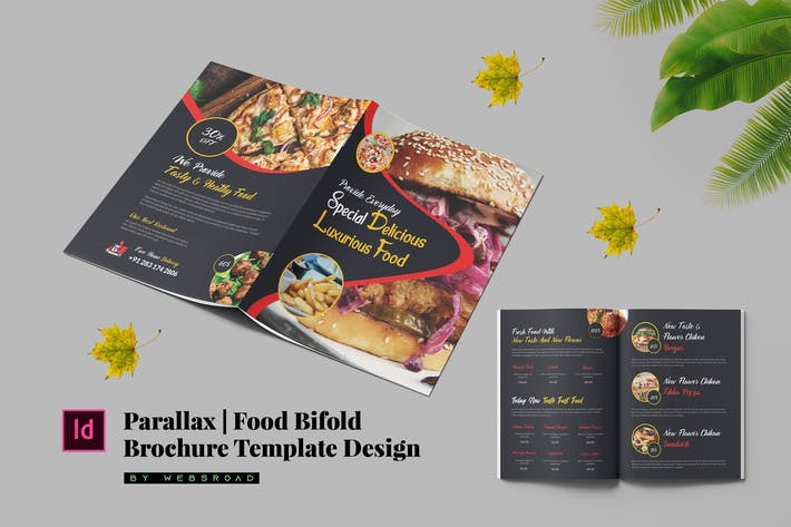 Thumbnail for Parallax | Food Bi-Fold Menu Template Design