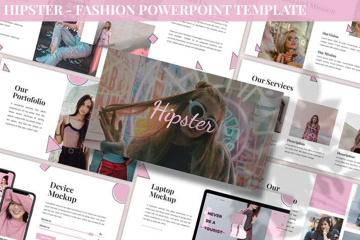 Thumbnail for Hipster - Fashion Powerpoint Template