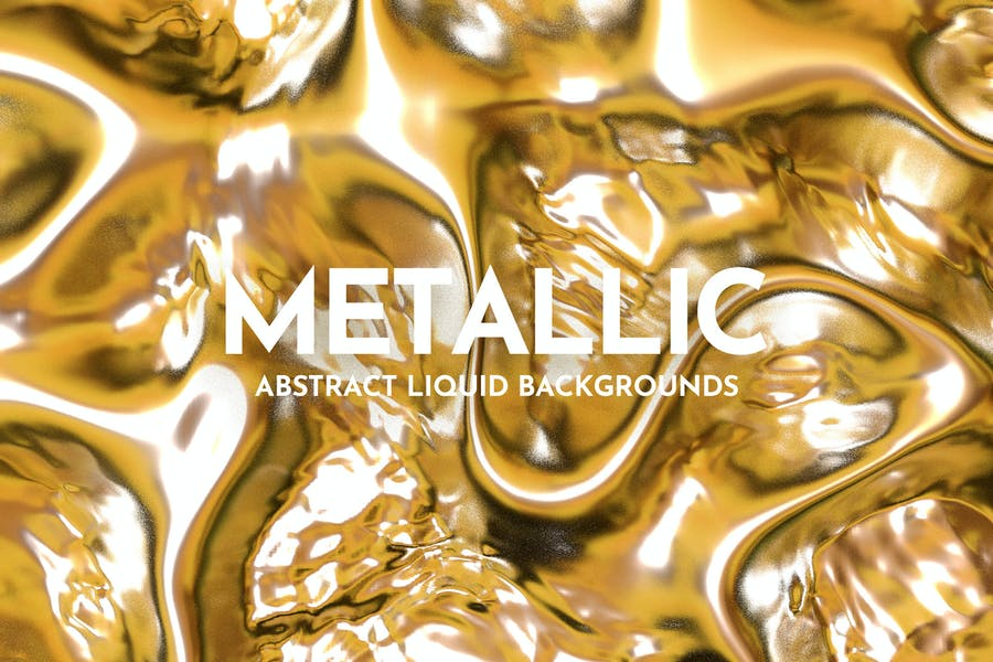 Metallic Liquid Background Set