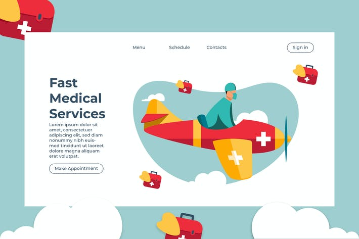 Thumbnail for Fast Medical Services - Banner & Landing Page