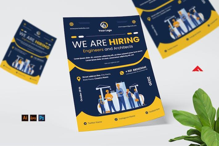 Thumbnail for Engineer Job Hiring Flyer Advertisement