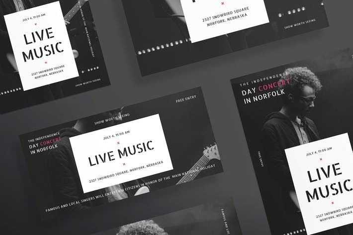 Cover Image For Music Concert Flyer and Poster Template