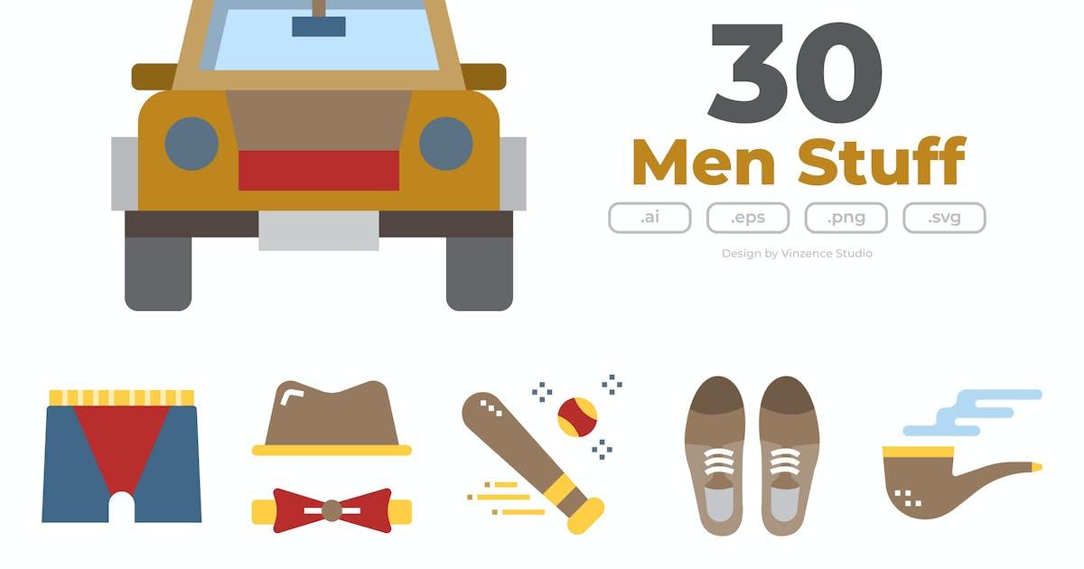 Download 30 Men Stuff Icons - FLAT by winnievinzence