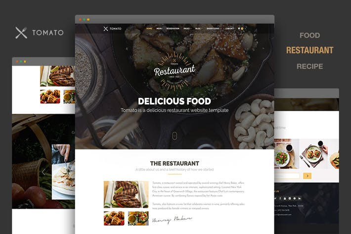 Thumbnail for Restaurant Website Template - Tomato