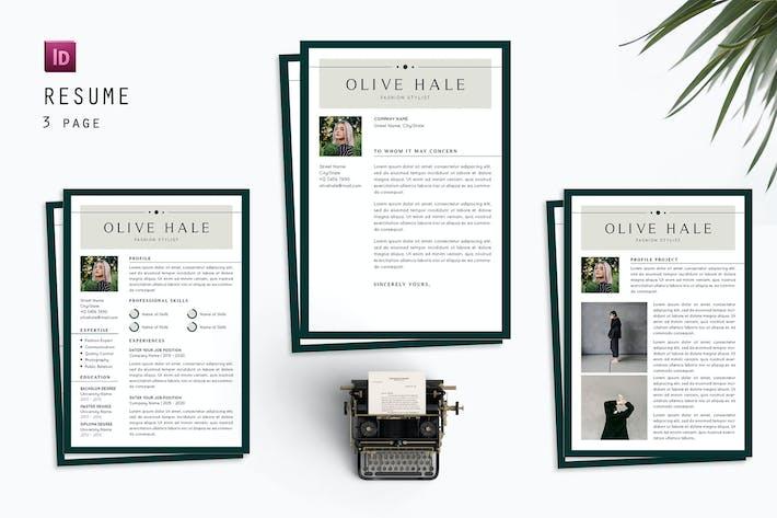 Thumbnail for Olive Hale Resume Designer
