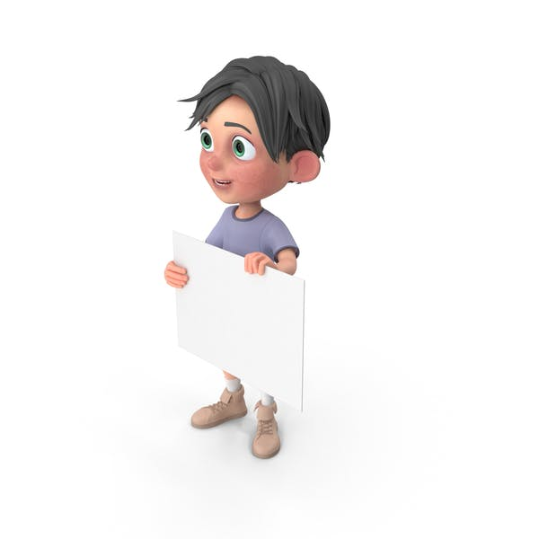 Cover Image for Cartoon Boy Jack Holding Sign