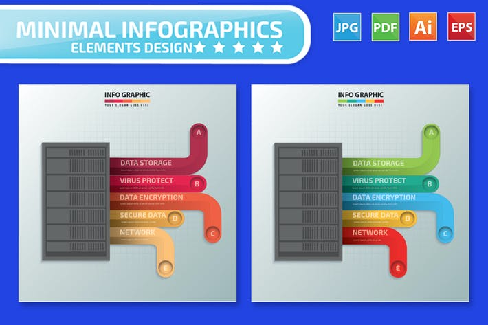 Thumbnail for Database Server infographic Design