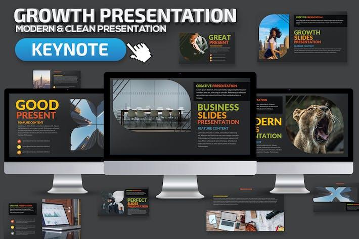 Thumbnail for Growth Keynote Presentation Template