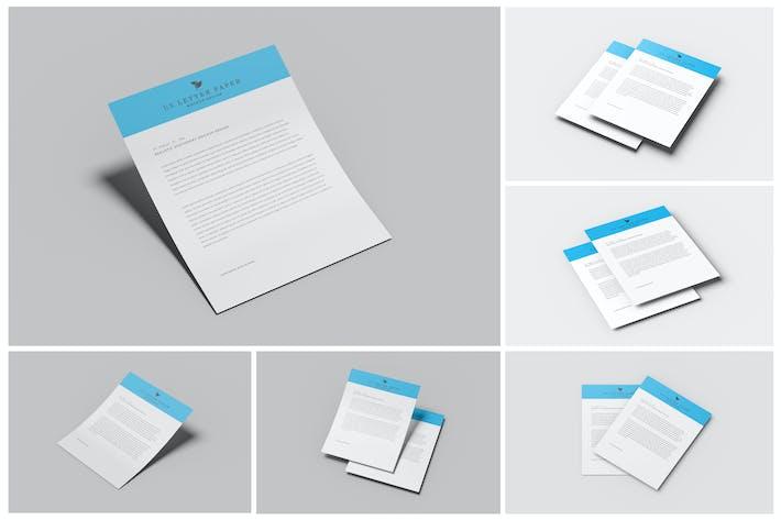 US Letter Stationery Paper Mockups