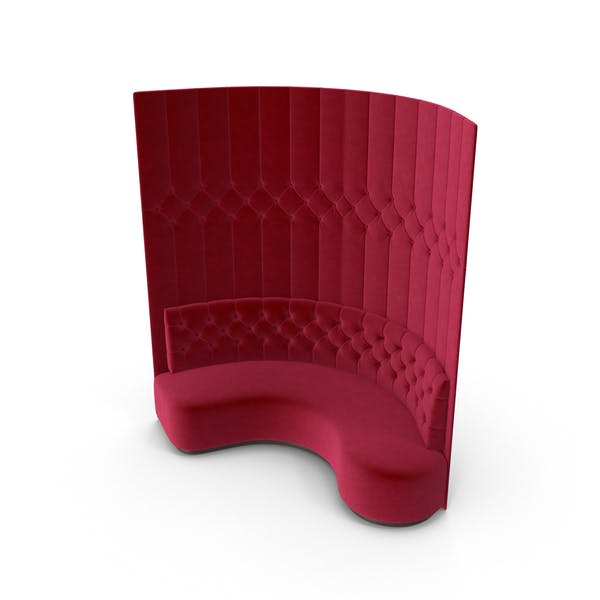 Red Corner Tufted Club Sofa