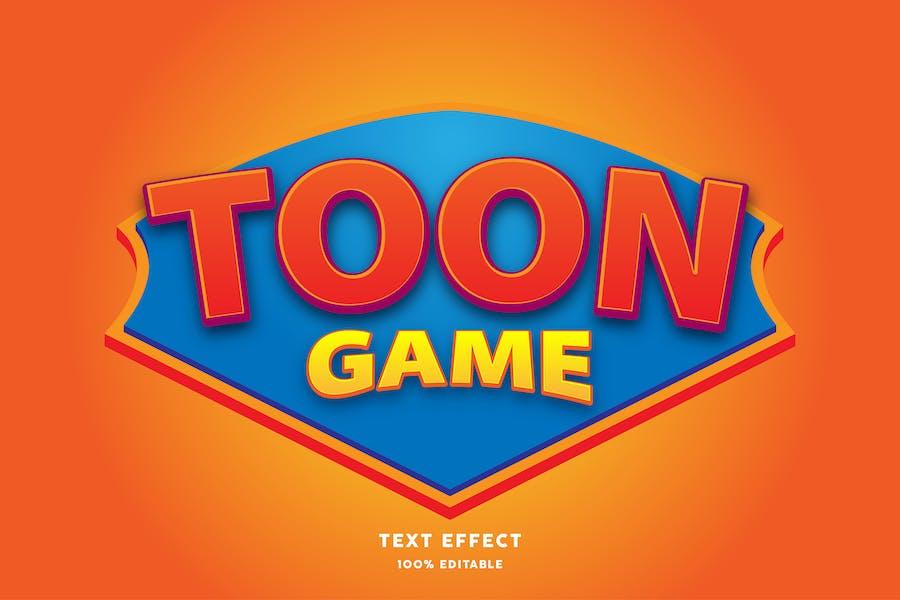 Toon game cartoon text effect