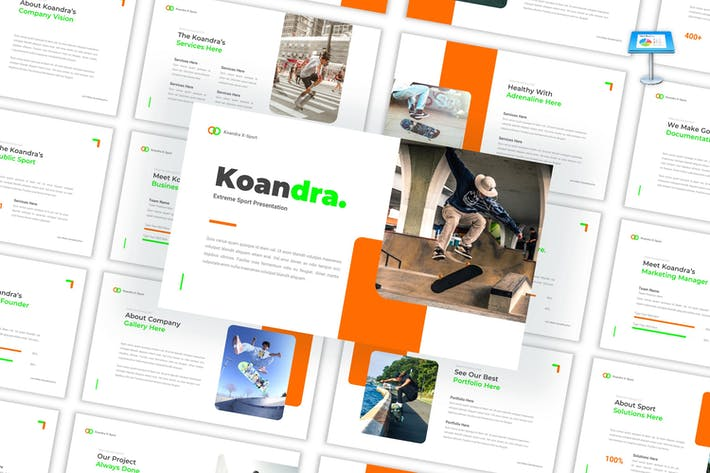 Koandra - ЭкстремаKeynote шаблон