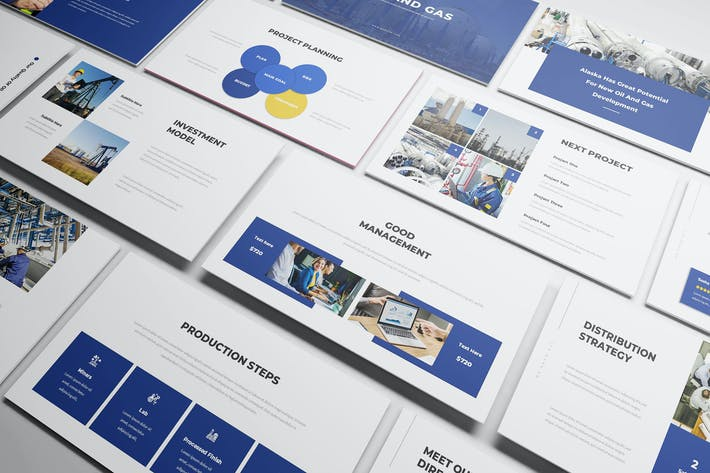Thumbnail for Oil & Gas Powerpoint Presentation Template