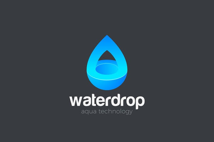 Thumbnail for Wassertropfen Logo Aqua Liquid Oil Design