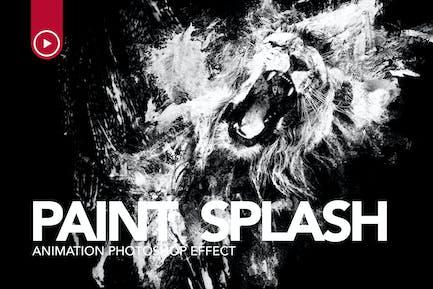 Paint Splash Animation Photoshop Action