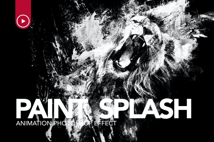 Thumbnail for Paint Splash Animation Photoshop Action