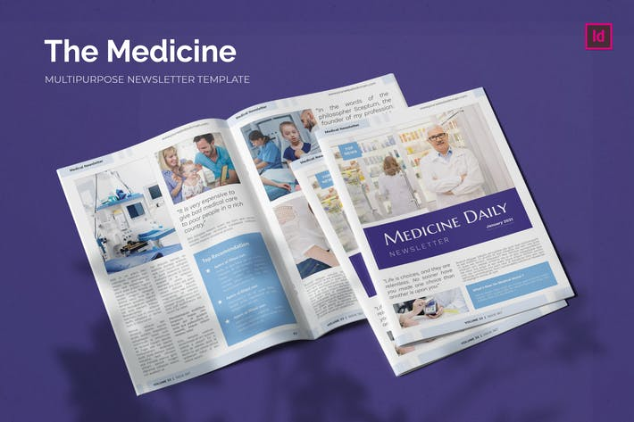 Thumbnail for Medicine Company - Newsletter Template